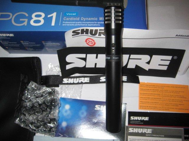 Micro shure pg81 XLR