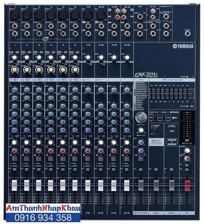 bàn trộn liền công suất Mixer Yamaha EMX 5014 C