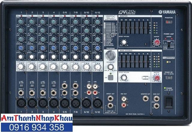 Mixer kèm công suất Yamaha EMX 212S