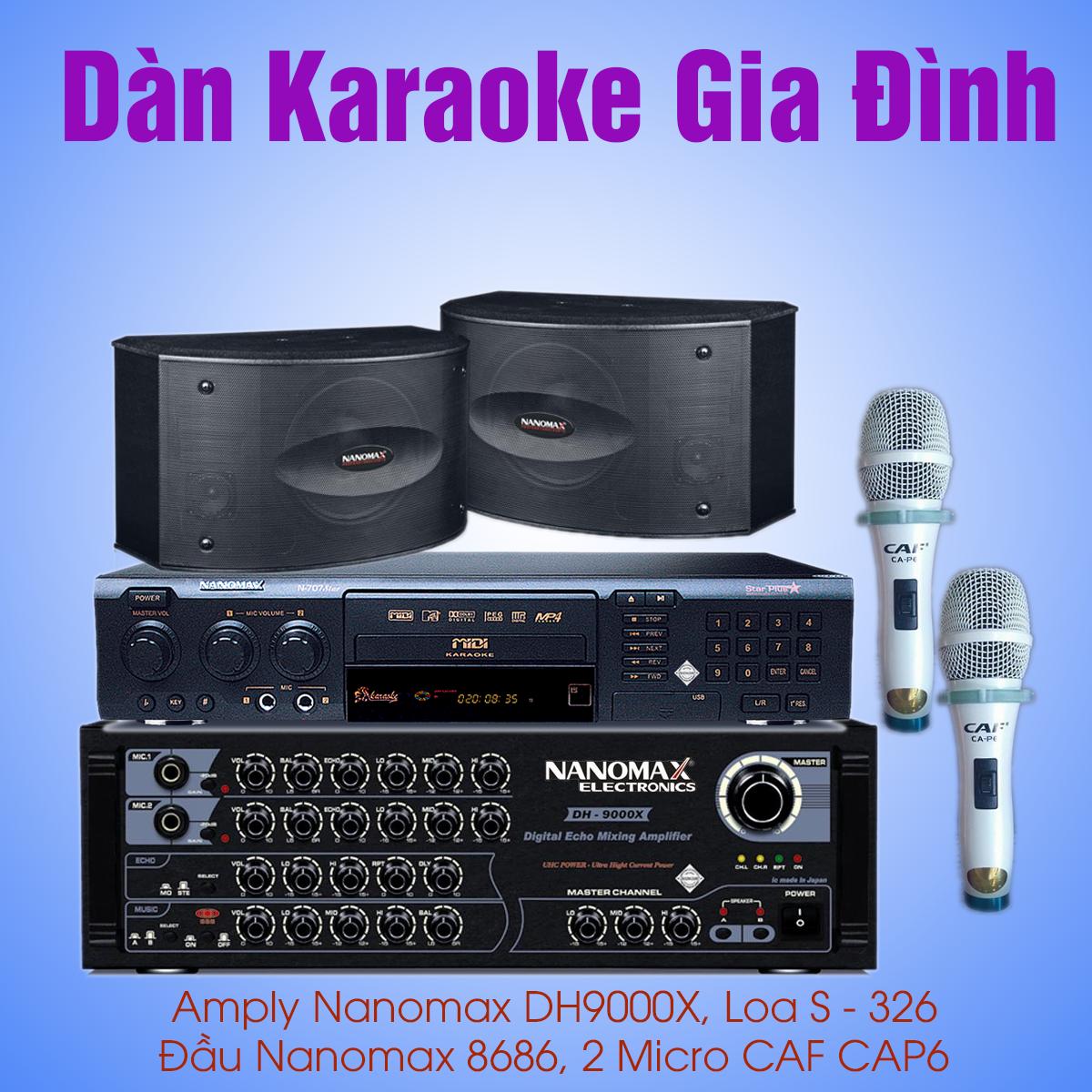 cấu hình dàn karaoke gia đình