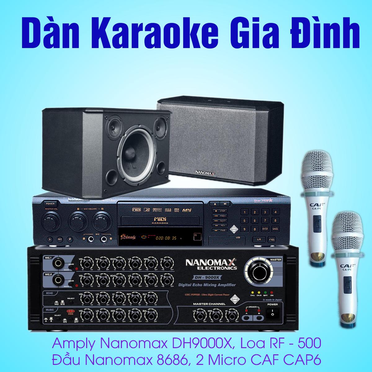 cấu hình dàn karaoke gia đình nanomax giá rẻ