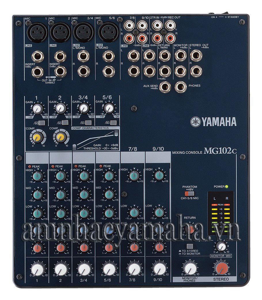 Bàn trộn âm thanh Mixer Yamaha MG 102C