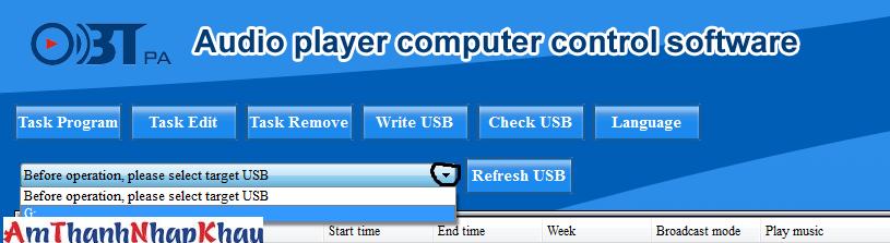 Cách chọn USB để cài đặt giờ