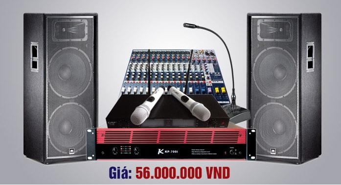 Bộ dàn hội trường chính hãng 56 triệu đôi loa full 2 bass