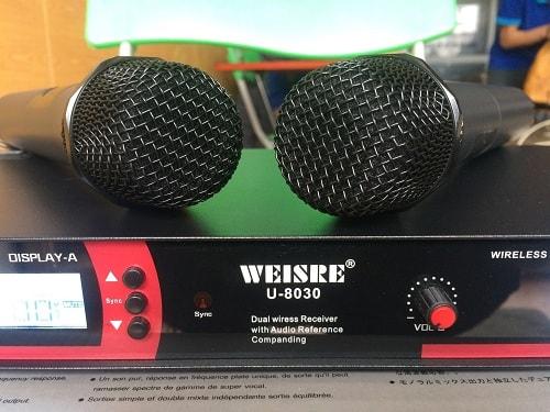 Micro không dây weisre U8030 chất lượng cao không sợ nhiễu sóng 4