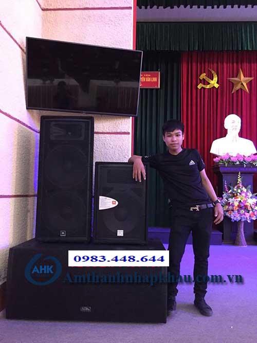 Dự án âm thanh hội trường cho trường bồi dưỡng chính trị tỉnh Hưng Yên