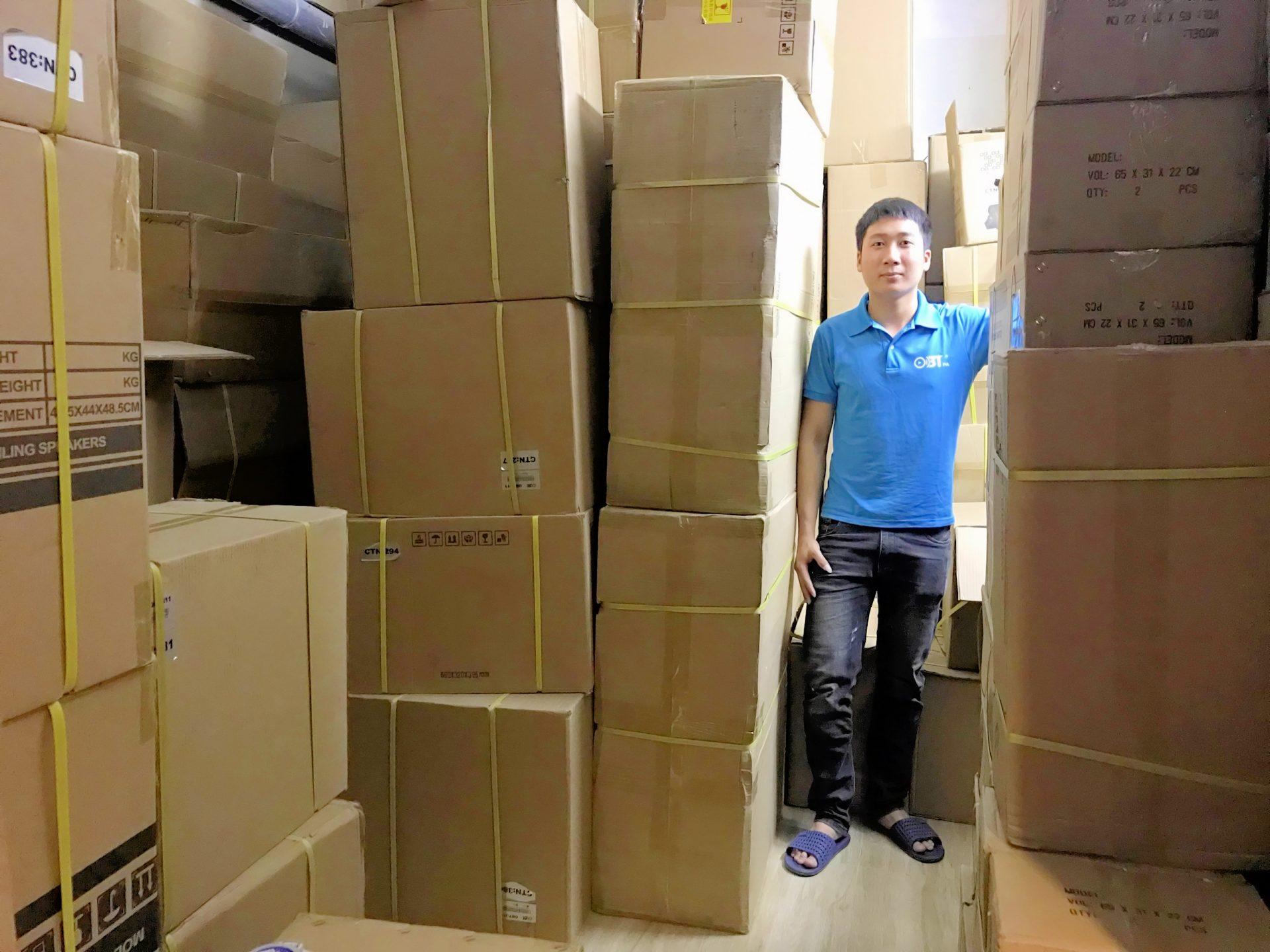 Hình ảnh kho hàng Amply các loại của AHK Việt Nam