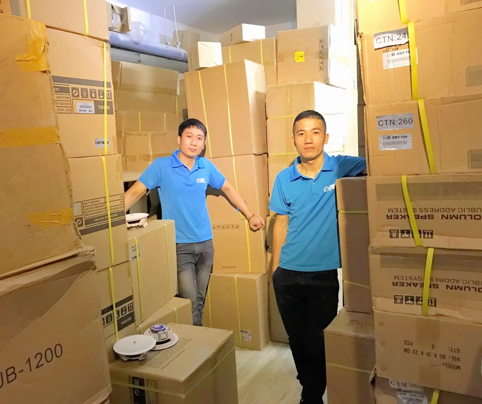 Hình ảnh kho hàng loa âm trần tại AHK Việt Nam