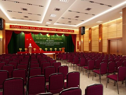 Hệ thống âm thanh cho hội trường 100 m2