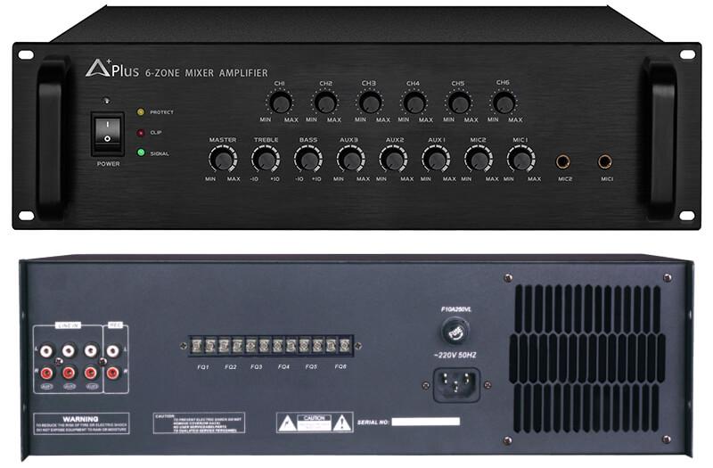 Amply chọn 6 vùng Aplus AP-6A800 công suất 800W 1