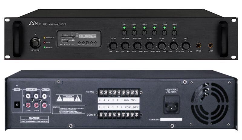 Amply liền mixer Aplus AS-6Z120 1