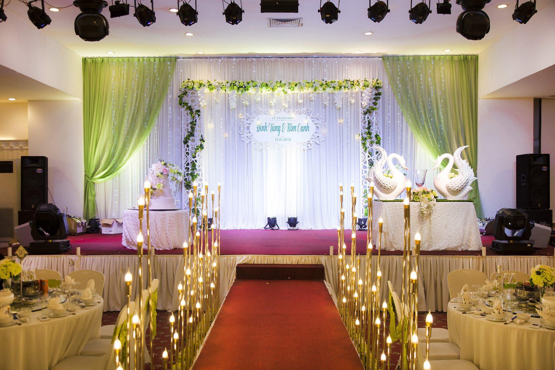 Thiết kế hệ thống âm thanh sân khấu tiệc cưới. 2