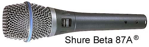 Micro shure-beta-87A hát karaoke