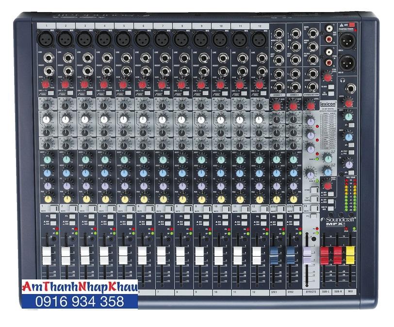 Bàn trộn Mixer Soundcraft MFXi12