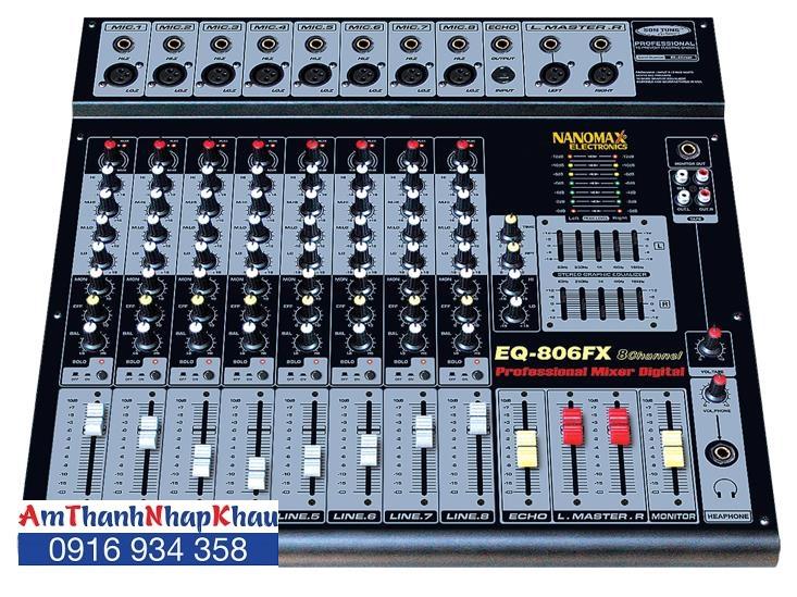 Mixer Nanomax EQ 806FX
