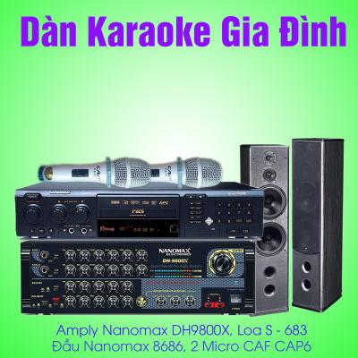 dàn karaoke gia đình nanomax
