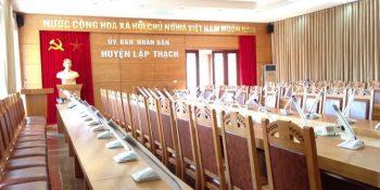 Dự án âm thanh hội thảo ủy ban nhân dân thị trấn Lập Thạch tỉnh Vĩnh Phúc