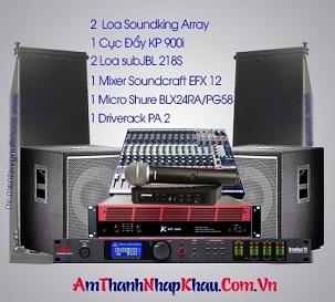 Loa Soundking Line Aray G210 cấu hình sân khấu ngoài trời chuyên nghiệp