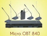 Micro cổ ngỗng không dây OBT 840 gồm 4micro 3