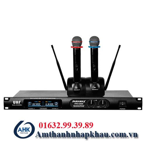 Micro không dây Paramax Pro 8000 hàng Việt Nam chất lượng cao 2
