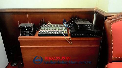 Dự án lắp đặt hệ thống âm thanh hội thảo hội nghị cho tỉnh ủy Hòa Bình 1