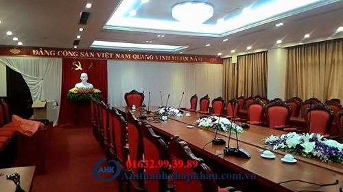 Dự án lắp đặt hệ thống âm thanh hội thảo hội nghị cho tỉnh ủy Hòa Bình 2