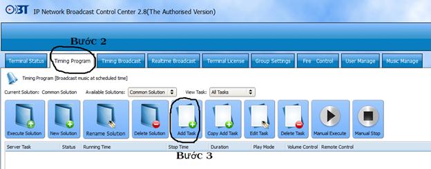 Hướng dẫn sử dụng phần mềm quản trị hệ thống IP OBT 9800 3