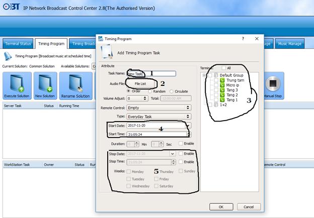 Hướng dẫn sử dụng phần mềm quản trị hệ thống IP OBT 9800 4