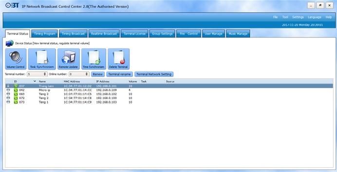 hệ thống quản trị IP OBT 9800