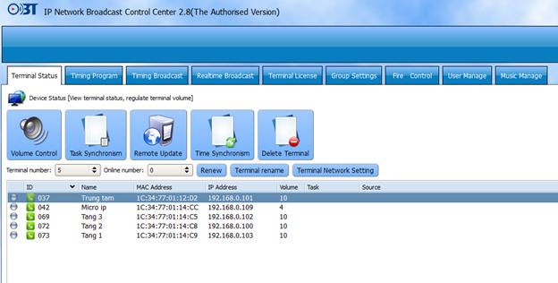 Hướng dẫn sử dụng phần mềm quản trị hệ thống IP OBT 9800 6