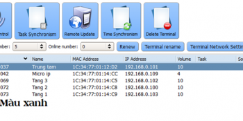 Hướng dẫn sử dụng phần mềm quản trị hệ thống IP OBT 9800 50