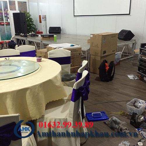 Dự án lắp đặt dàn âm thanh đám cưới, sân khấu nhà hàng Vua Hải Sản TP Hạ Long 7