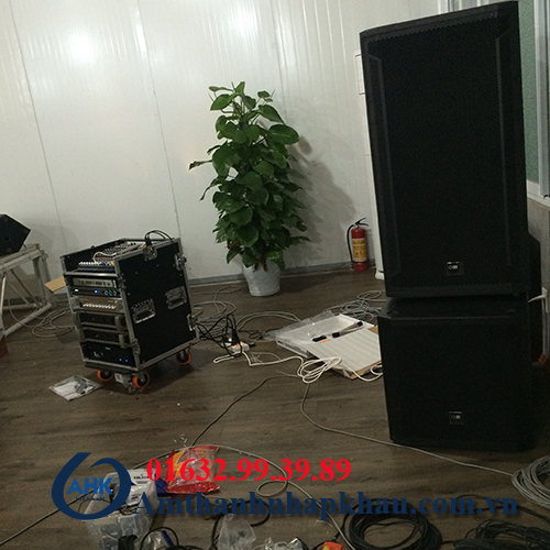 Dự án lắp đặt dàn âm thanh đám cưới, sân khấu nhà hàng Vua Hải Sản TP Hạ Long 12