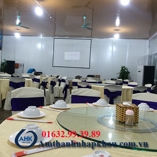 Dự án lắp đặt dàn âm thanh đám cưới, sân khấu nhà hàng Vua Hải Sản TP Hạ Long 2