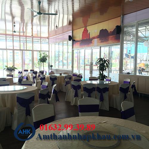 Dự án lắp đặt dàn âm thanh đám cưới, sân khấu nhà hàng Vua Hải Sản TP Hạ Long 6
