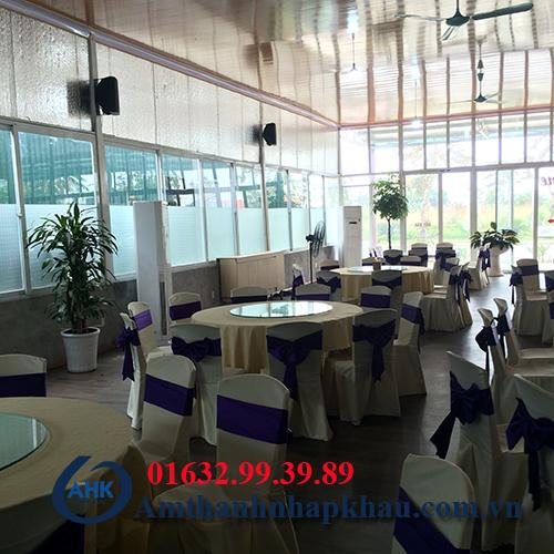 Dự án lắp đặt dàn âm thanh đám cưới, sân khấu nhà hàng Vua Hải Sản TP Hạ Long 8