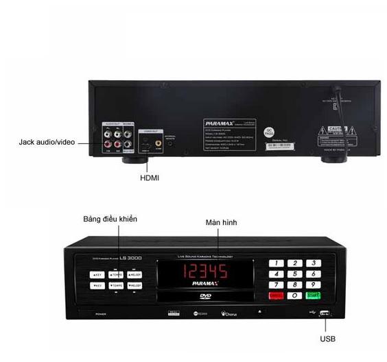 Đầu Karaoke Paramax LS 3000 âm thanh sắc nét 1