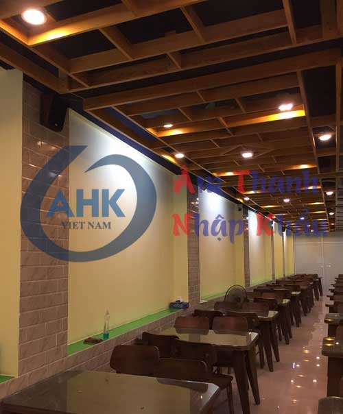 Lắp đặt hệ thống âm thanh cho nhà hàng 386 Bạch Mai