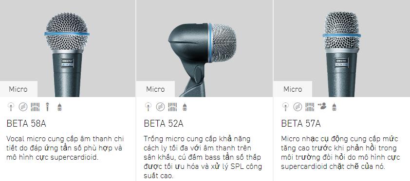 Tư vấn các dòng micro Shure 4