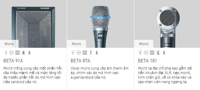 Tư vấn các dòng micro Shure 5