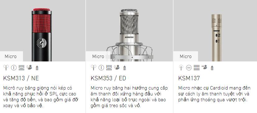 Tư vấn các dòng micro Shure 3