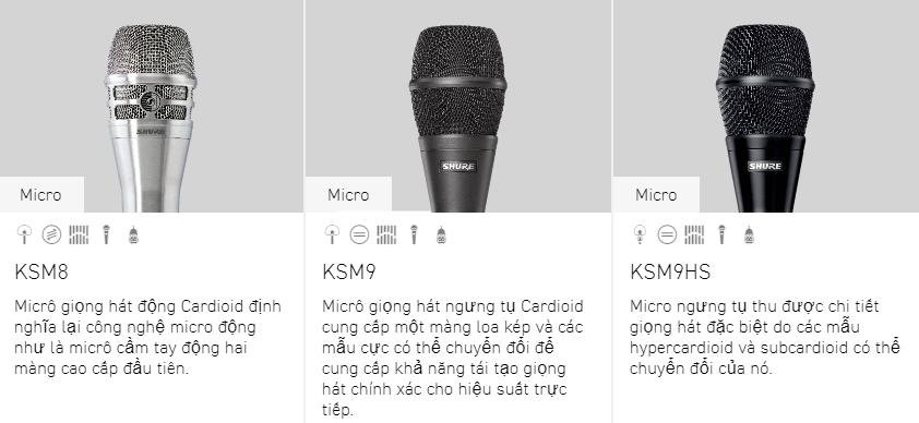 Tư vấn các dòng micro Shure 2
