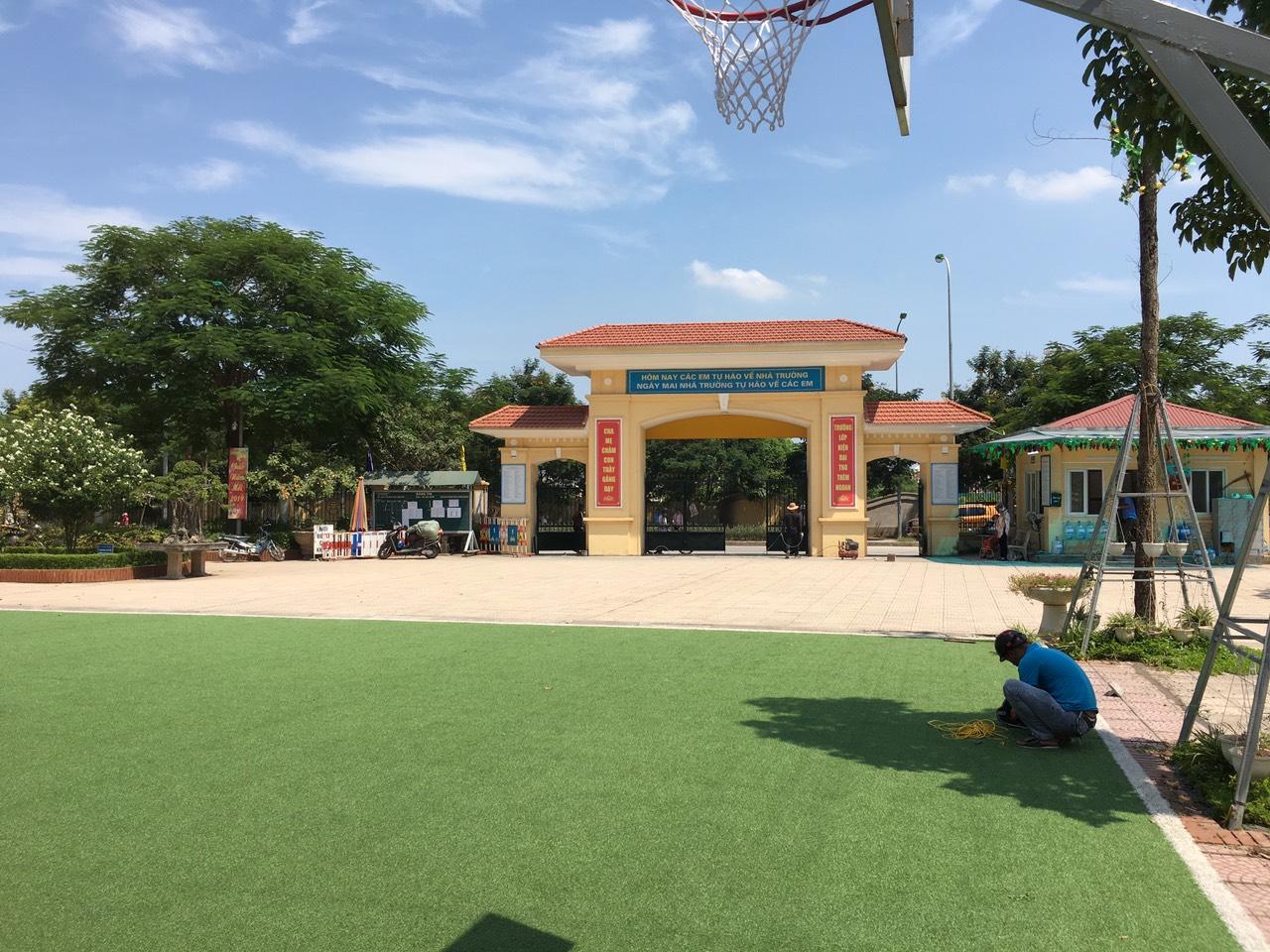 Lắp đặt hệ thống âm thanh thông báo trường học tại THCS Thanh Liệt 1