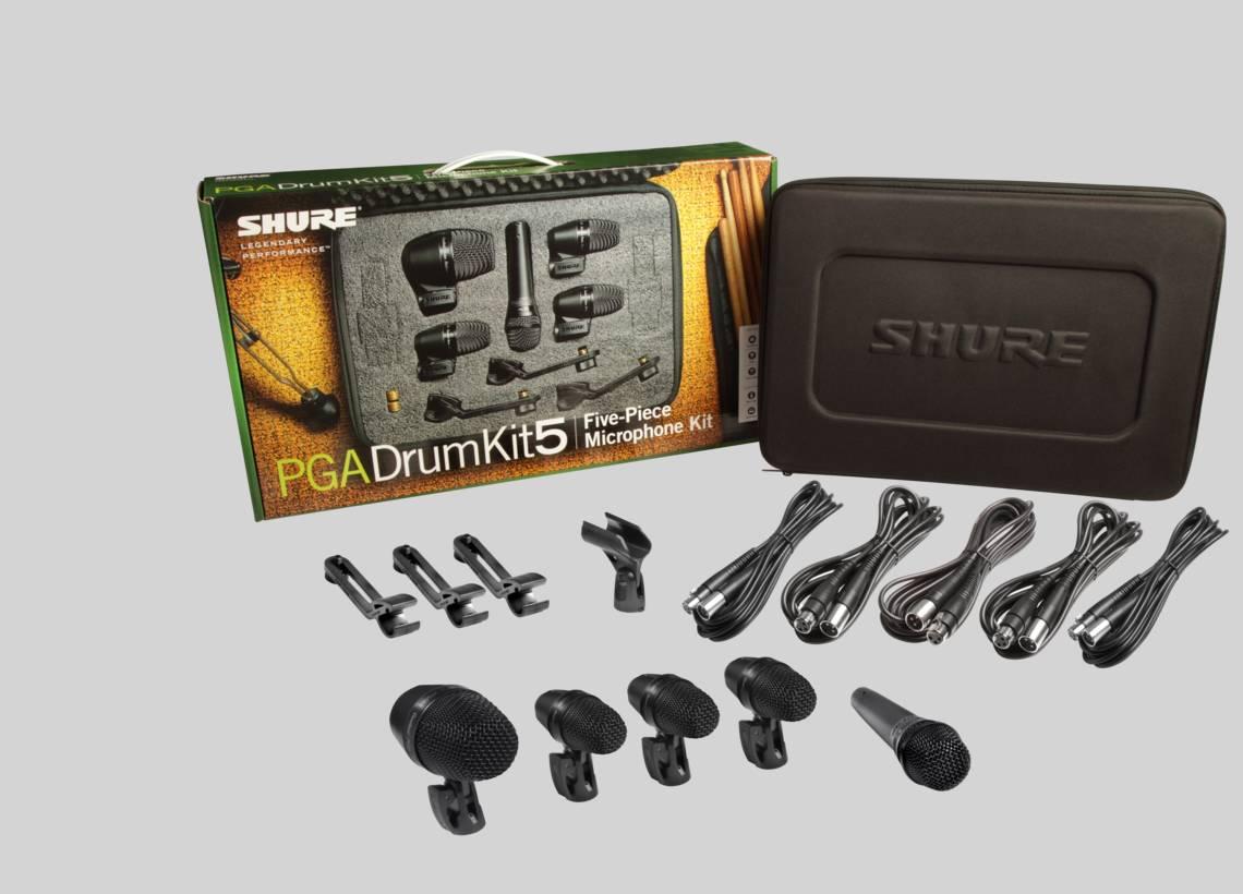 Bộ micro cho trống và bộ gõ Shure PGADRUMKIT5