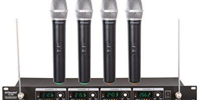 Bộ micro Karaoke không dây GTD Audio GTD 380H với 4 mic cầm tay