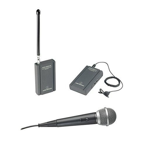 Micro karaoke không dây TwinMic chạy bằng pin VHF Audio-Technica ATR288W