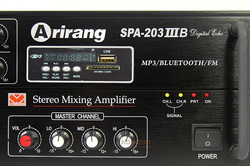 Amply ARIRANG SPA-203IIIB có kết nối Bluetooth hiện đại