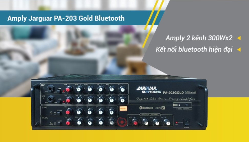 Amply Jarguar Suhyoung PA-203 Gold Bluetooth