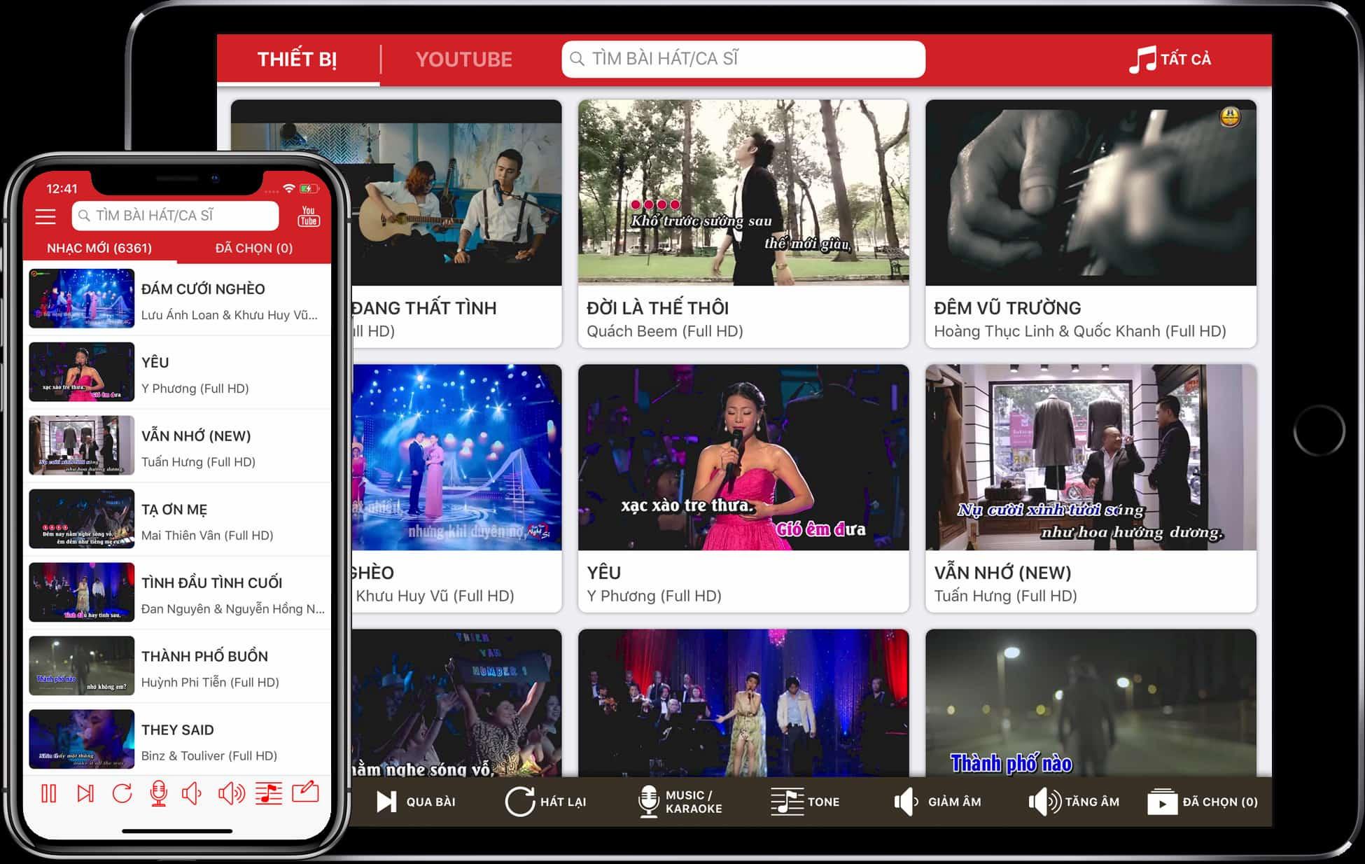 App hát karaoke trên internet KaraTube