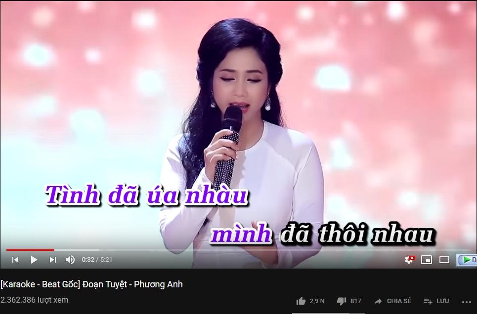 Các bài hát karaoke miễn phí trên Youtube